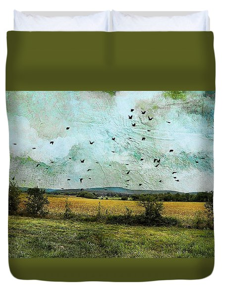 Amber Waves Of Grain Duvet Cover by Jan Amiss Photography