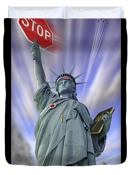 America On Alert II Duvet Cover by Mike McGlothlen