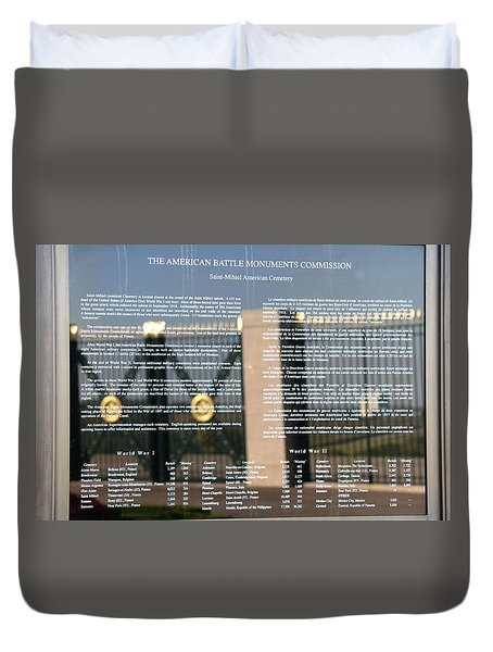 Duvet Cover featuring the photograph American Battle Monuments Commission by Travel Pics