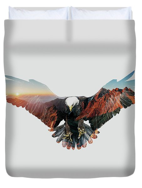 American Eagle Duvet Cover by John Beckley