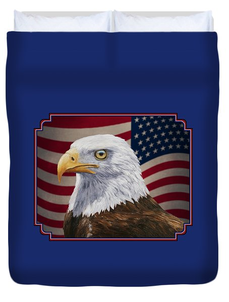 American Eagle Phone Case Duvet Cover by Crista Forest