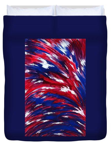 American Flag Duvet Cover by Michael Vigliotti