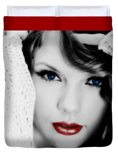 American Girl Taylor Swift Duvet Cover by Brian Reaves