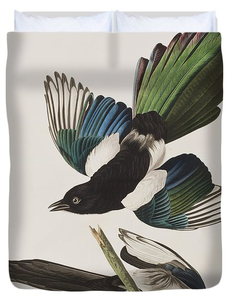 American Magpie Duvet Cover by John James Audubon