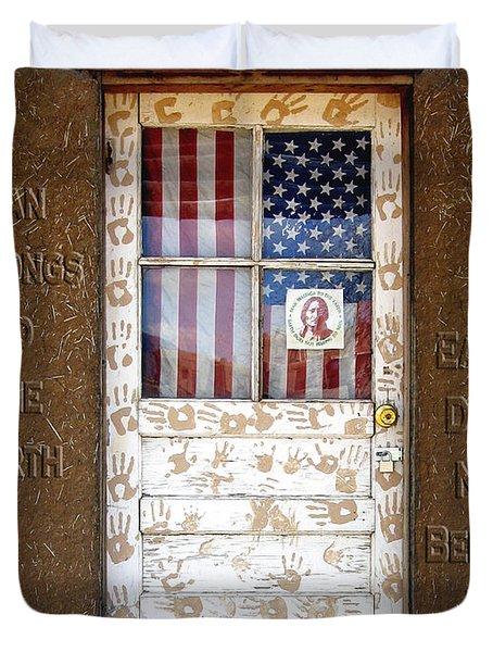 American Native Finger Prints Duvet Cover by Kurt Van Wagner
