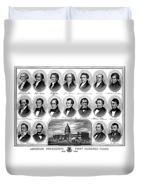 American Presidents First Hundred Years Duvet Cover by War Is Hell Store