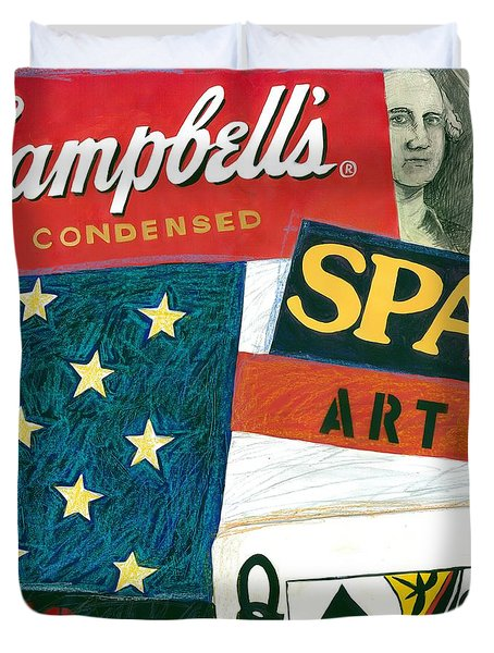American Self Portrait Duvet Cover by Gerry High