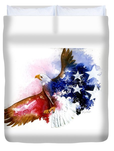 American Spirit Duvet Cover by Sherry Shipley