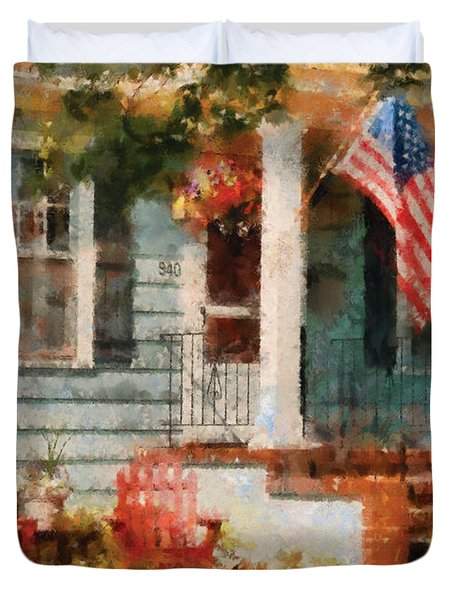 Americana - America The Beautiful Duvet Cover by Mike Savad
