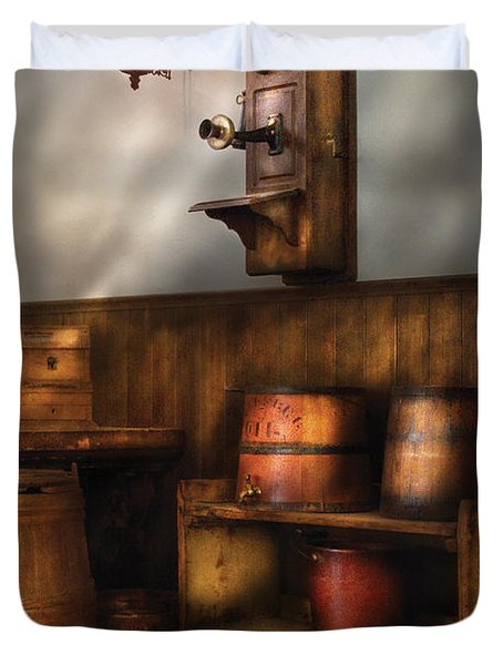 Americana -  In The Corner Of The General Store  Duvet Cover by Mike Savad