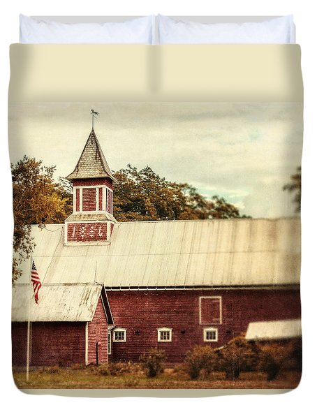 Americana Barn Duvet Cover by Lisa Russo