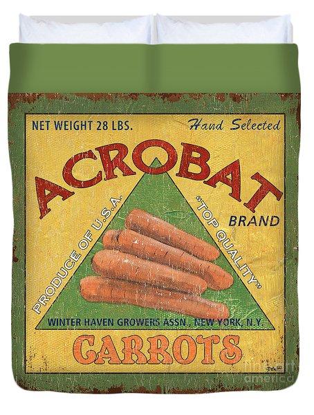 Americana Vegetables 2 Duvet Cover by Debbie DeWitt