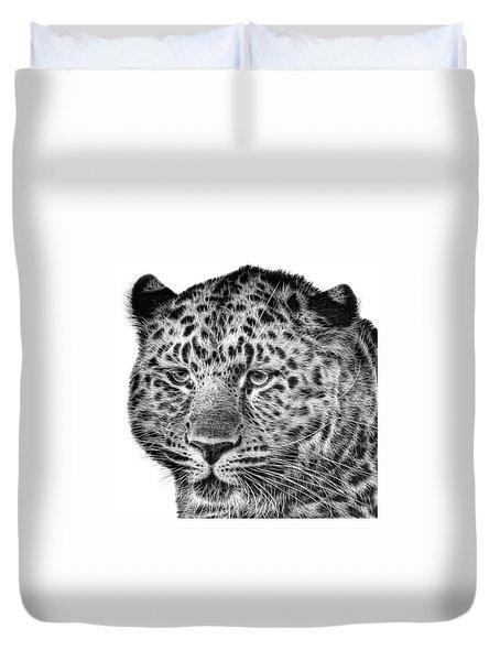 Amur Leopard Duvet Cover by John Edwards