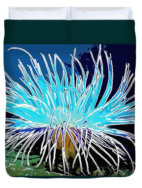 An abstract scene of sea anemone 1 Duvet Cover by Lanjee Chee