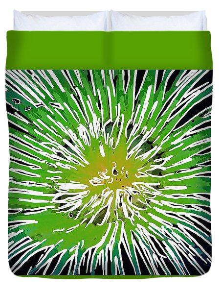 An Abstract Scene Of Sea Anemone 2 Duvet Cover by Lanjee Chee