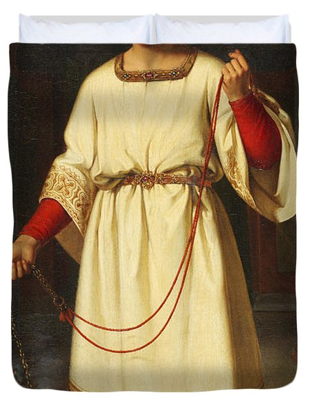 An Altar Boy Duvet Cover by Abraham Solomon