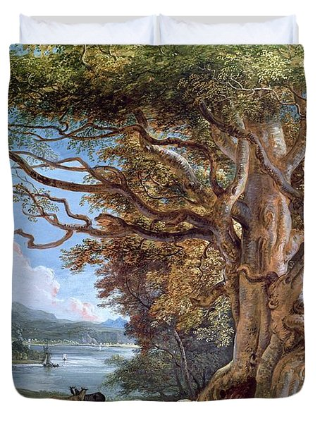 An Ancient Beech Tree Duvet Cover by Paul Sandby