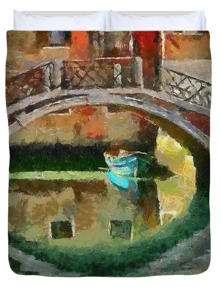 An Early Morning In Venice Duvet Cover by Dragica  Micki Fortuna