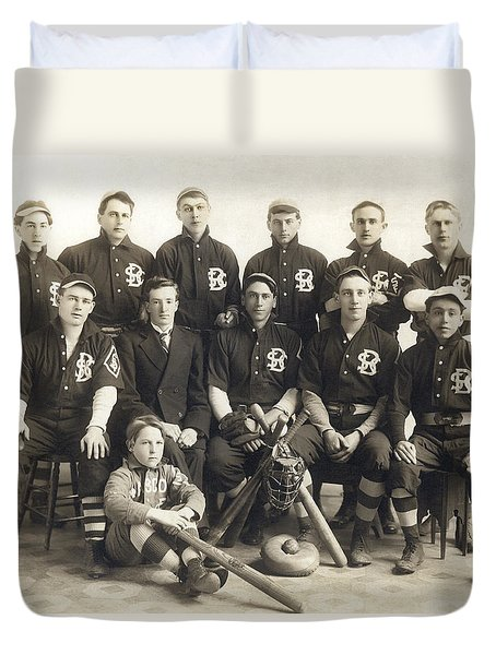 An Early Sf Baseball Team Duvet Cover by American School