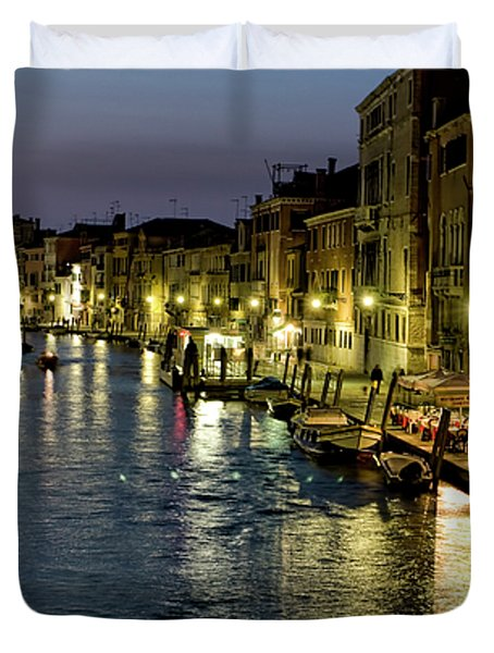An Evening in Venice Duvet Cover by Michelle Sheppard