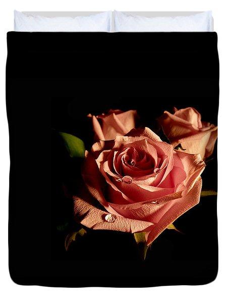 Anastasia's Rose Duvet Cover by Susan Duda