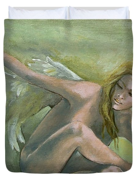 Angel Duvet Cover by Dorina  Costras