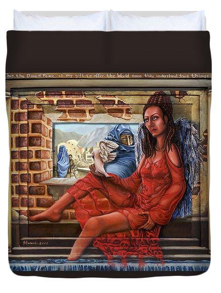 Angel Of Peace Duvet Cover by Karen Musick