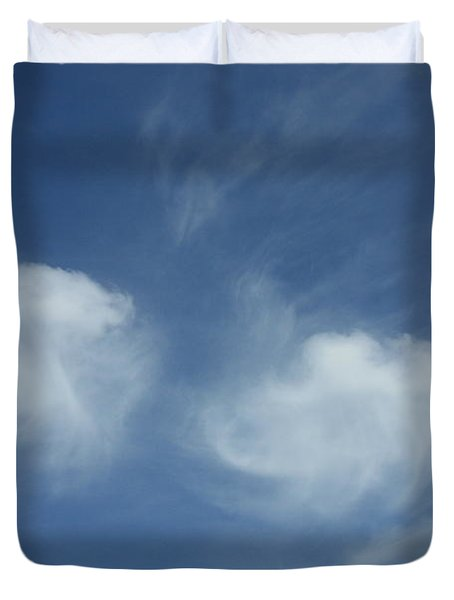 Angel Wings In The Sky Duvet Cover by Carol Groenen