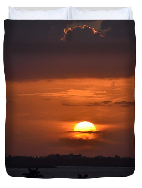 Angel's Head Sunset Duvet Cover by Rene Triay Photography
