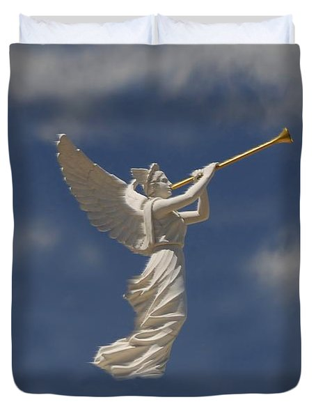 Angels Trumpet Duvet Cover by David Lee Thompson