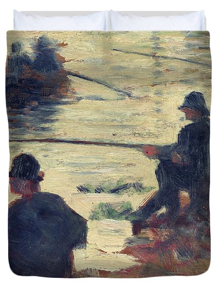 Anglers Duvet Cover by Georges Pierre Seurat