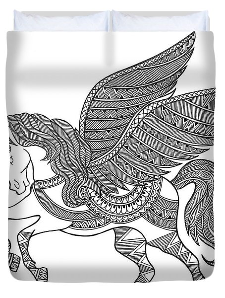 Animal Unicorn Duvet Cover by Neeti Goswami