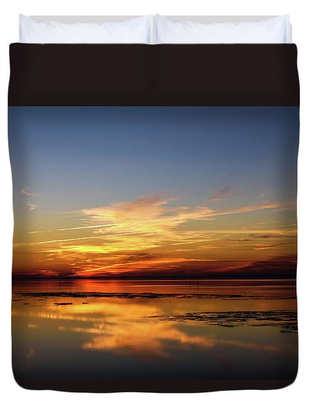 Duvet Cover featuring the photograph Another Day by Thierry Bouriat