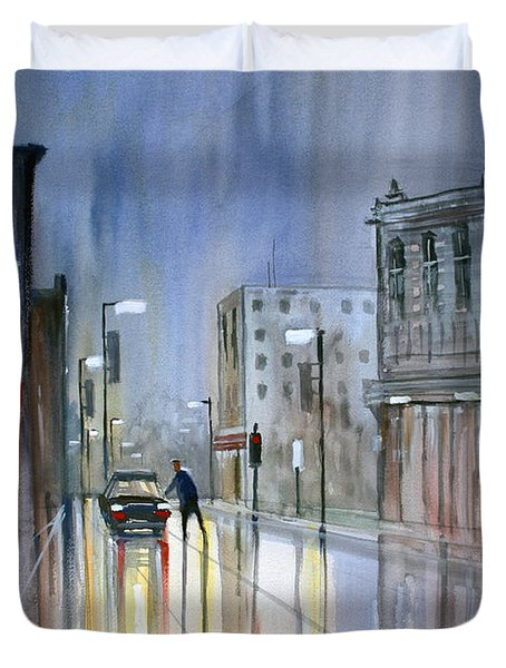 Another Rainy Night Duvet Cover by Ryan Radke