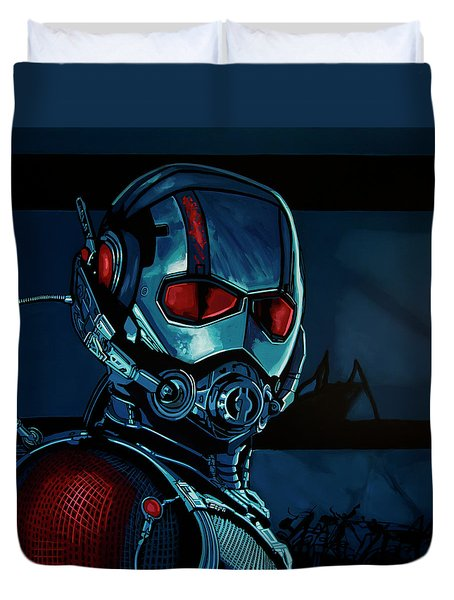 Ant Man Painting Duvet Cover by Paul Meijering