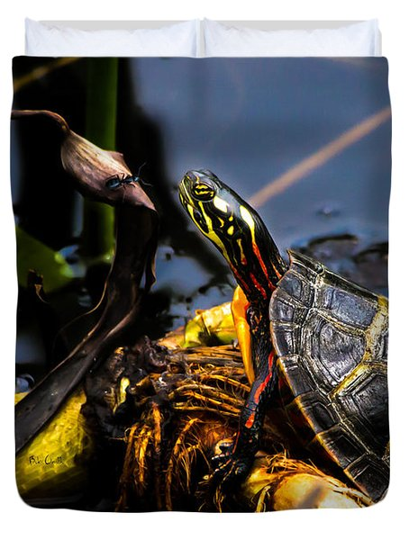 Ant Meets Turtle Duvet Cover by Bob Orsillo