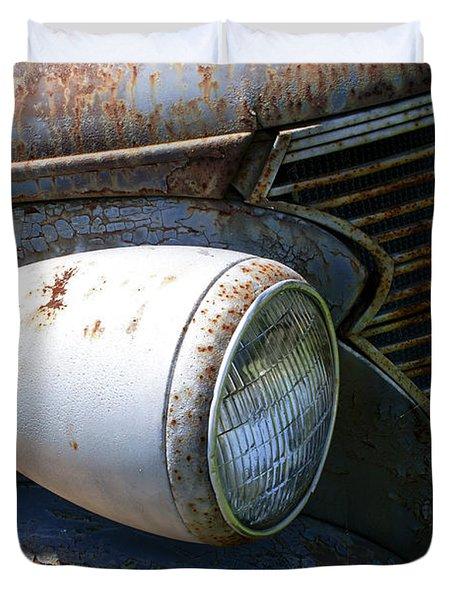 Antique Car Headlight Duvet Cover by Douglas Barnett