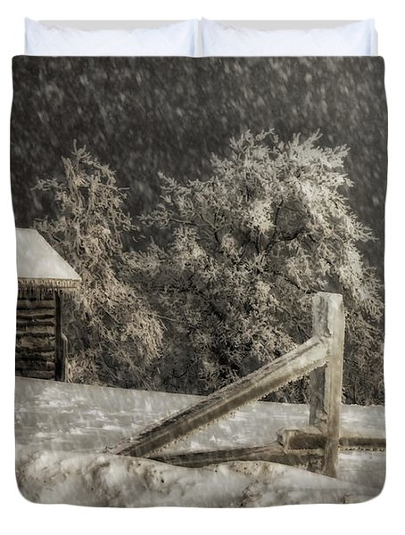 Any Port In A Storm Duvet Cover by Lois Bryan