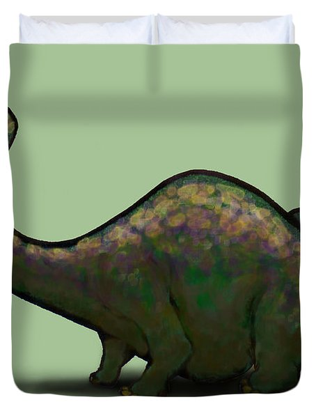 Apatosaurus  Duvet Cover by Kevin Middleton