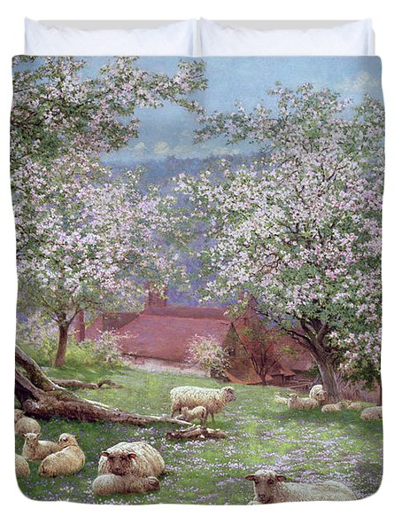 Appleblossom Duvet Cover by William Biscombe Gardner