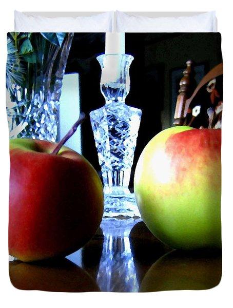 Apples Still Life Duvet Cover by Will Borden