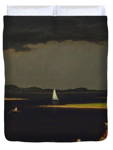 Approaching Thunderstorm Duvet Cover by Martin Heade