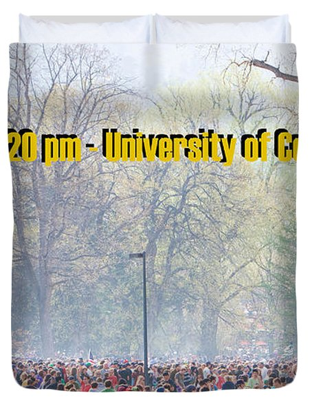 April 20th - University of Colorado Boulder Duvet Cover by James BO  Insogna