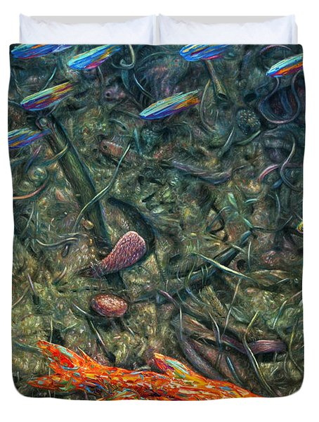 Aquarium 2 Duvet Cover by James W Johnson
