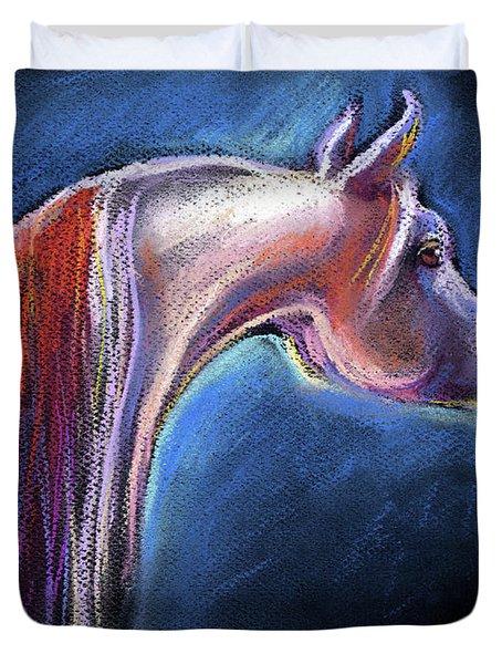 Arabian Horse Equine Painting Duvet Cover by Svetlana Novikova