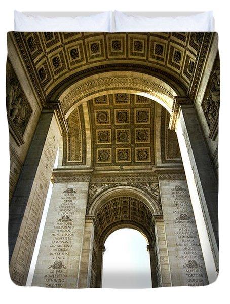 Arc De Triomphe Paris Duvet Cover by Charuhas Images
