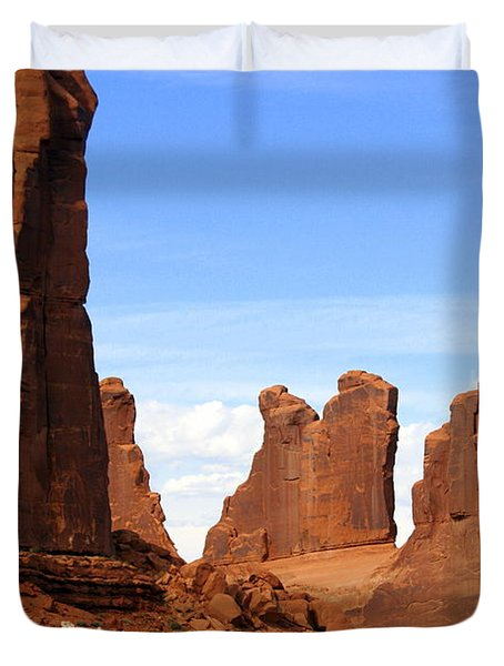Arches Park 2 Duvet Cover by Marty Koch