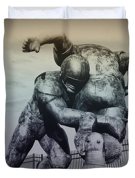 Are You Ready For Some Football Duvet Cover by Bill Cannon