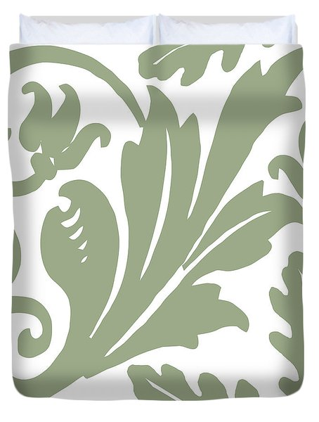 Arielle Olive Duvet Cover by Mindy Sommers