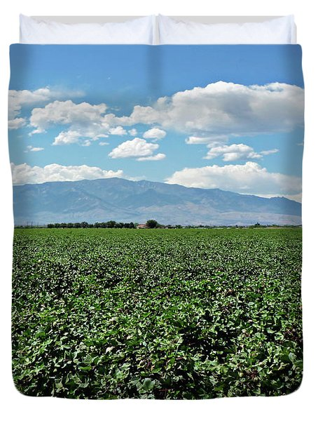 Arizona Cotton Field Duvet Cover by Methune Hively